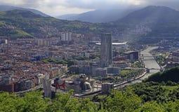 Das Stadtbild von Bilbao - Hauptstadt des Baskenlands lizenzfreies stockbild