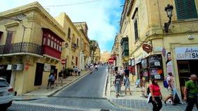 Das Stadtbild von Victoria, Gozo, Malta stock video footage