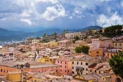 Das Stadtzentrum von Portoferraio Stockbilder