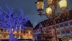 Das Stadtzentrum von Straßburg Frankreich lizenzfreies stockbild