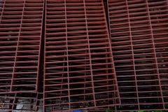 Das Stahlgitter Stockfoto