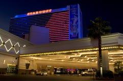 Das Stardust-Hotel leuchtet ihm Nacht während seines letzten Jahres im Jahre 2006 lizenzfreies stockbild