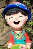 Das Statuenlächeln Stockfoto