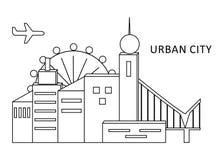 Das städtische Stadtschwarze Lizenzfreie Stockbilder