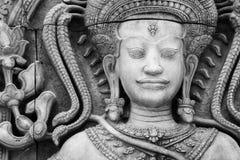 Das Steingesicht Buddha Lizenzfreies Stockbild