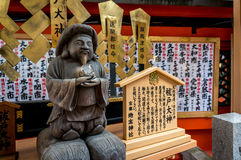 Das Steinhandwerk des Mönchs in Kiyomizu-Tempel in Kyoto Stockbilder