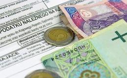 Das Steuerformular. Lizenzfreie Stockfotos