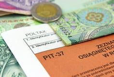 Das Steuerformular. Stockbild
