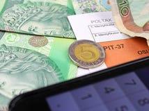 Das Steuerformular Lizenzfreies Stockbild