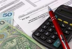 Das Steuerformular. Lizenzfreies Stockbild