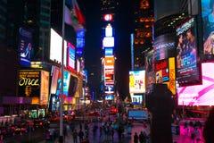 Das Straßenleben quadrieren manchmal in New York, USA Lizenzfreie Stockbilder