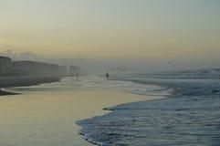 Das Strandrecht vor Sonnenuntergang Stockbild