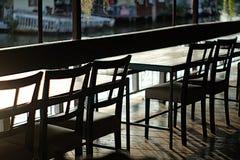 Das Stuhl silhoutte Stockbild