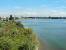 Das Sumpf-und See-Teil des Seeburgpark-Parks in Kreuzlingen stockbilder