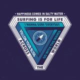 DAS SURFEN IST FÜR DAS LEBEN ÜBER DER WELT Lizenzfreies Stockfoto