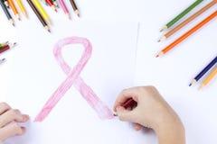 Das Symbol des Weltkrebs-Tages Lizenzfreie Stockbilder