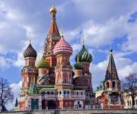 Das Symbol von Russland - St.-Basilikum Kathedrale, Moskau stockbild