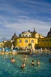 Das Szechenyi thermische Bad, Budapest Stockfotos