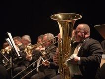 Das Szegedi symphonische Orchester führt durch Stockfoto