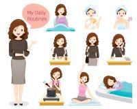 Das tägliche Leben der Frau stock abbildung