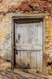 Das Tür-OS Santorini Stockbild