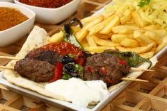 Das Türkische Adana Sis Kebab Stockbild