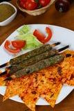 Das Türkische Adana - Urfa-Kebab Stockfotografie
