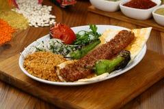 Das Türkische Adana - Urfa-Kebab Lizenzfreies Stockbild