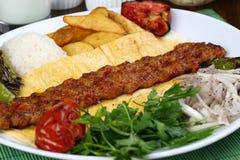 Das Türkische Adana - Urfa-Kebab Stockfoto