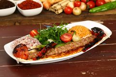 Das Türkische Adana - Urfa-Kebab Lizenzfreies Stockfoto