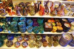 Das Türkische gemalte handgemachte Andenken Türkische Keramik Lizenzfreie Stockbilder