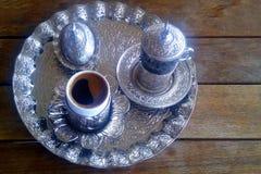 Das Türkische-Istanbul-Kaffee am Morgen stockfotografie