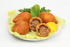 Das Türkische-Ramadan Food-icli kofte (Fleischklöschen) Falafel Stockfoto