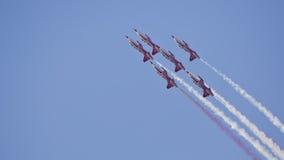 Das Türkische spielt Acroteam Airshow die Hauptrolle Lizenzfreies Stockbild