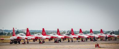 Das Türkische-Stern Airplains Stockfotografie