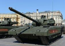 Das T-14 Armata ist ein Hauptpanzer der russischen modernen nächsten Generation, der auf der Universalkampf-Plattform Armata basi Stockfotografie