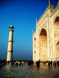Das Taj Mahal von der Seite Stockbilder
