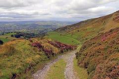 Das Tal Clwyd und Offas des Damm-Feuersteins Wales Lizenzfreie Stockbilder