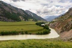 Das Tal des Chuya-Flusses Stockfotos