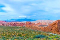 Das Tal des Feuer-Nationalparks, USA stockfotos