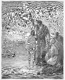 Das Tauf von Jesus Stockfoto