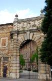 Das Teatro Olimpico in Vicenza-Portal in Venetien (Italien) Lizenzfreies Stockbild