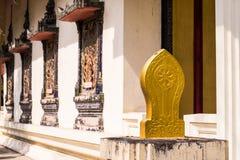 Das Teil des thailändischen Artmustertempels lizenzfreies stockfoto