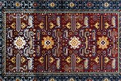 Das Teil handgemachten Teppichs TürkischAserbaidschans Lizenzfreie Stockfotos