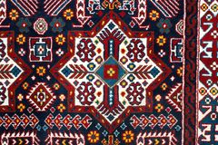 Das Teil von TürkischAserbaidschan-Teppich Lizenzfreie Stockfotografie