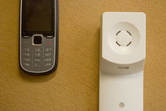 Das Telefon weg vom Haken stockbilder