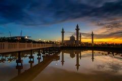 Das Tengku Ampuan Jemaah Mosque, Bukit Jelutong, Malaysia Lizenzfreies Stockfoto