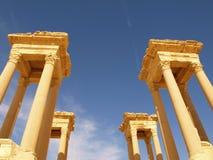 Das Tetrapylon im Palmyra Lizenzfreie Stockbilder
