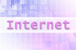 Das Textaufschrift Internet wird auf eine semitransparent FI geschrieben stock abbildung