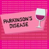 Das Textzeichen, das Parkinson s zeigt, ist Krankheit Begriffsfotonervensystemstörung, die Bewegung beeinflußt lizenzfreie abbildung
